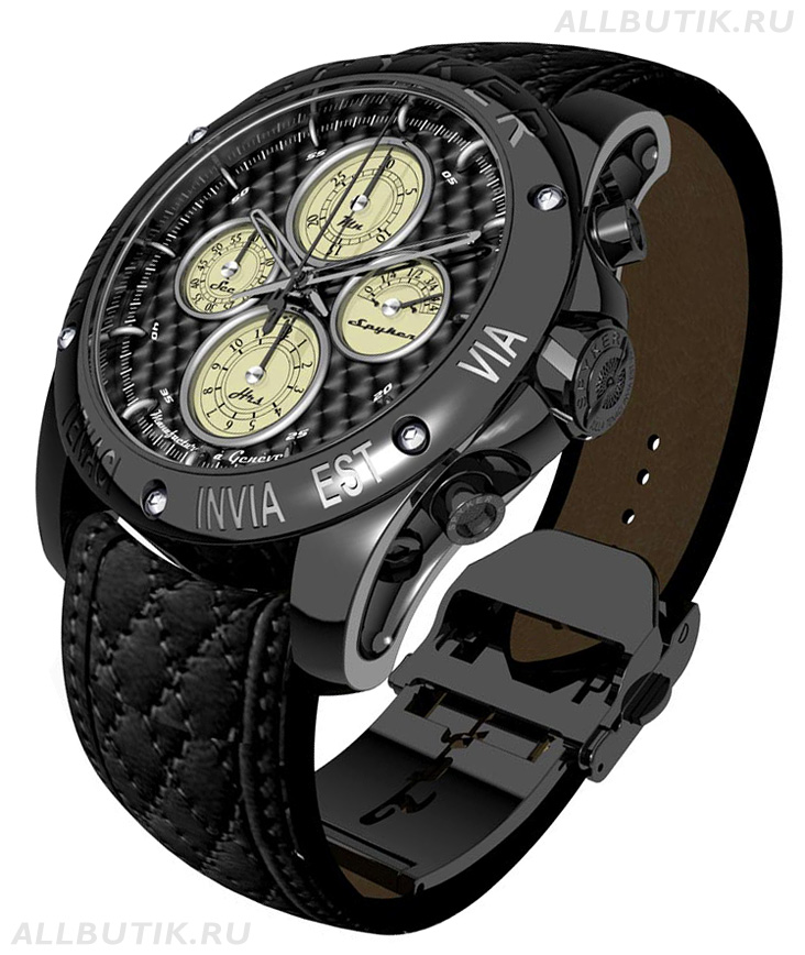 часы Spyker Chrono en titane finition PVD